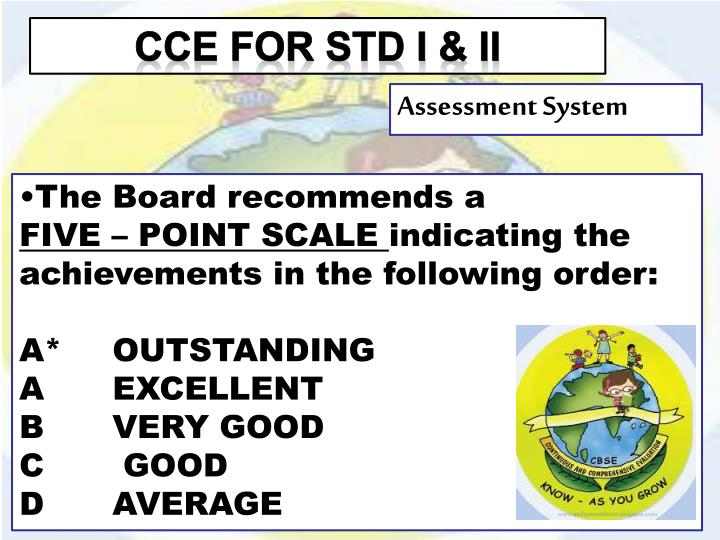 CCE for STD I & ii