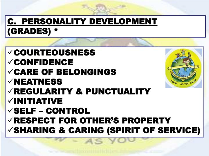 C.  PERSONALITY DEVELOPMENT