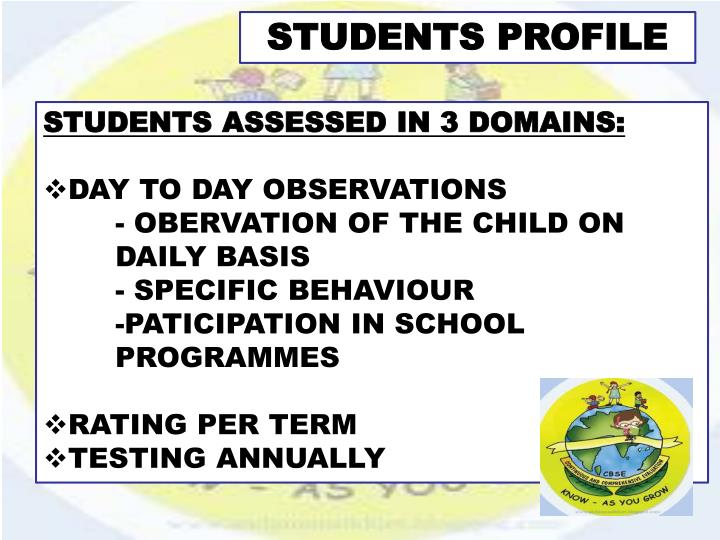 STUDENTS PROFILE