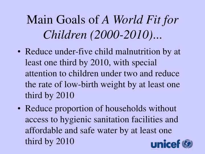 Main Goals of