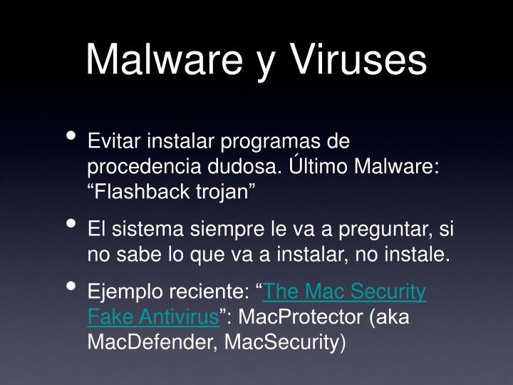 Malware y Viruses