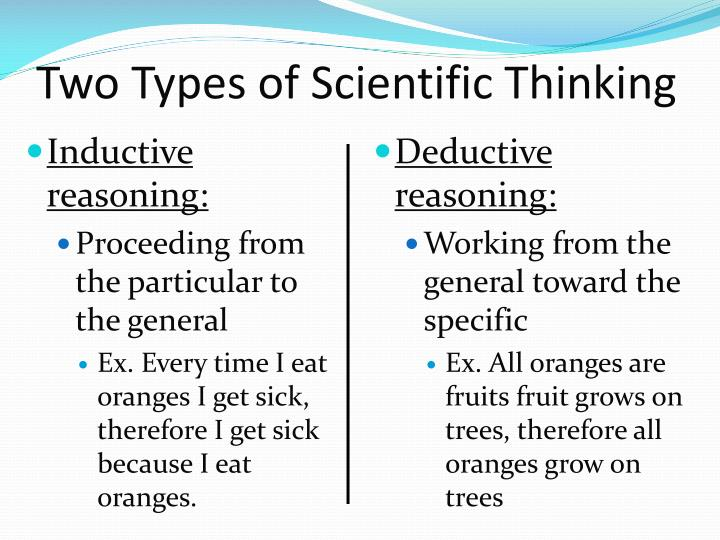 Two Types of Scientific Thinking