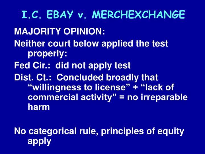 I.C.EBAY v. MERCHEXCHANGE