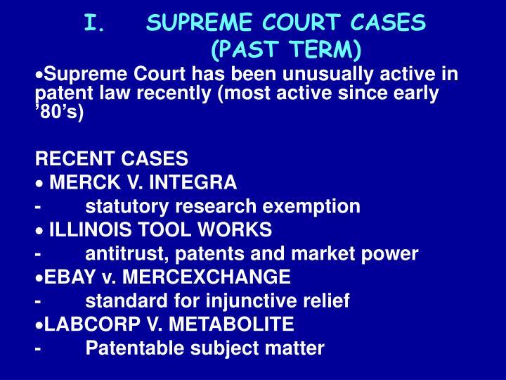 Supreme court cases past term