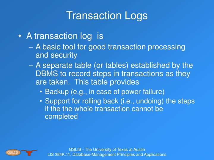 Transaction Logs