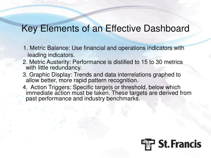 Key Elements of an Effective Dashboard