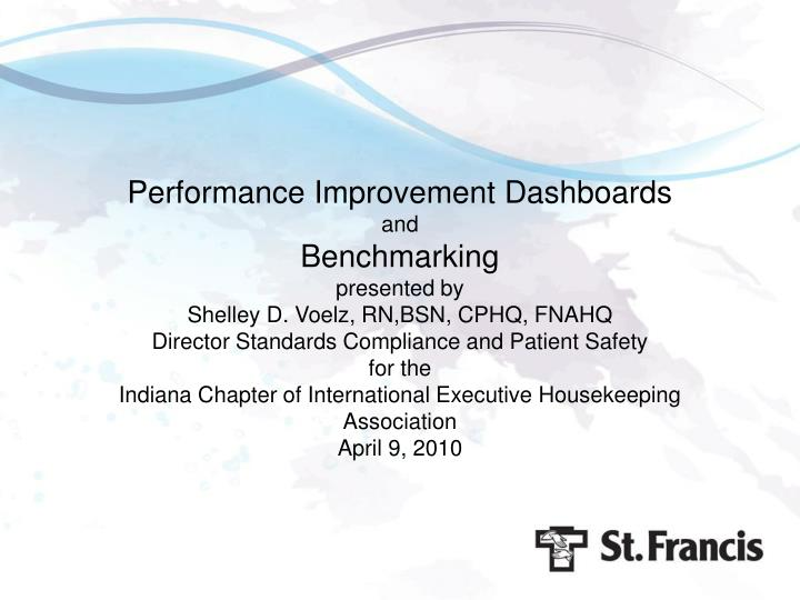Performance Improvement Dashboards