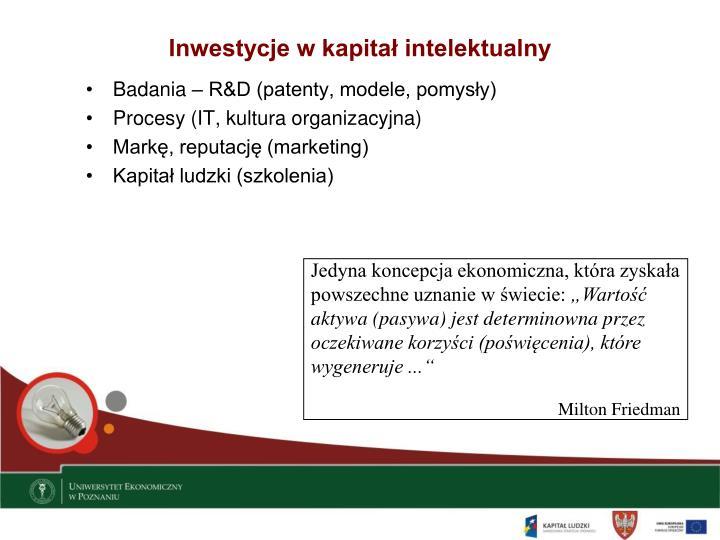 Inwestycje w kapitał intelektualny