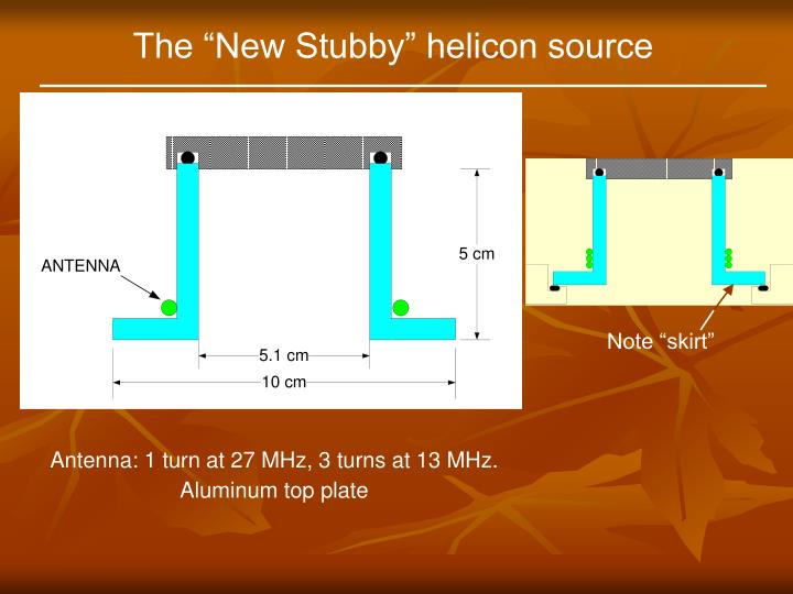 "The ""New Stubby"" helicon source"