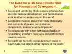 the need for a us based hindu ngo for international development