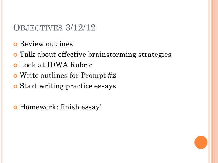 Objectives 3 12 12