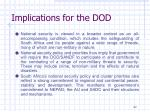 implications for the dod