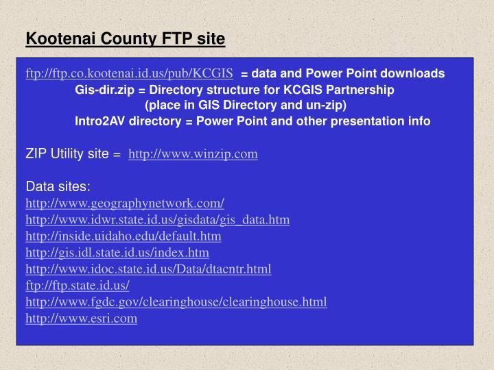 Kootenai County FTP site