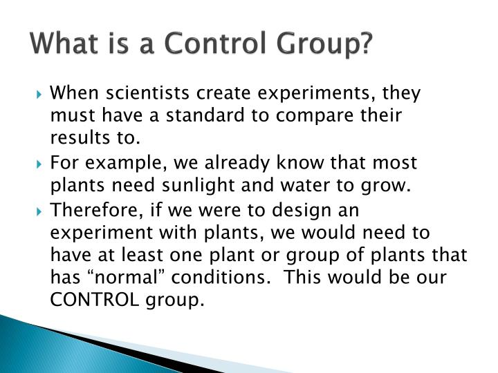 PPT - Controls, Variables, & Experimental Design PowerPoint ...