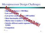 microprocessor design challenges