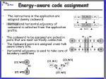energy aware code assignment1