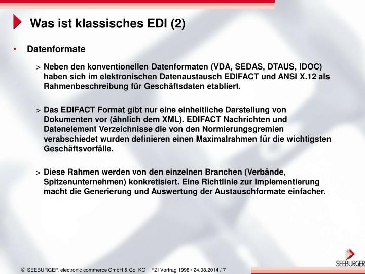 Was ist klassisches EDI (2)