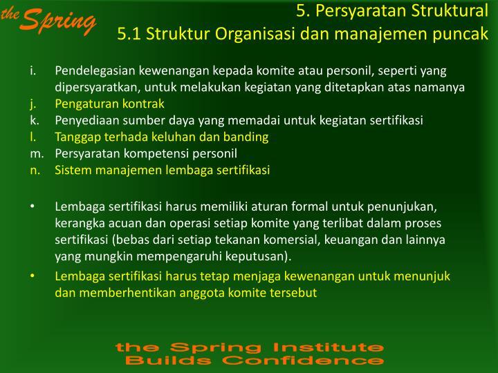 5. Persyaratan Struktural