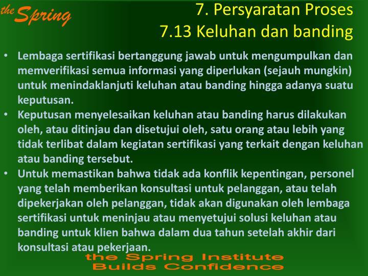 7. Persyaratan Proses