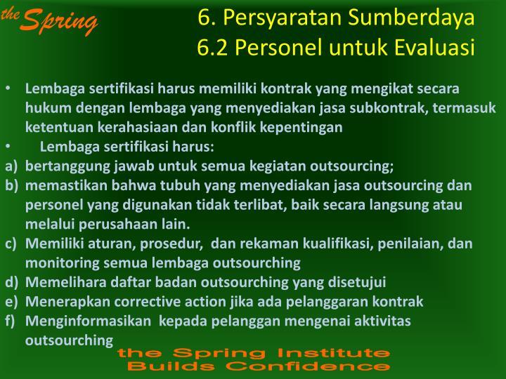 6. Persyaratan Sumberdaya
