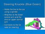 steering knuckle blue green