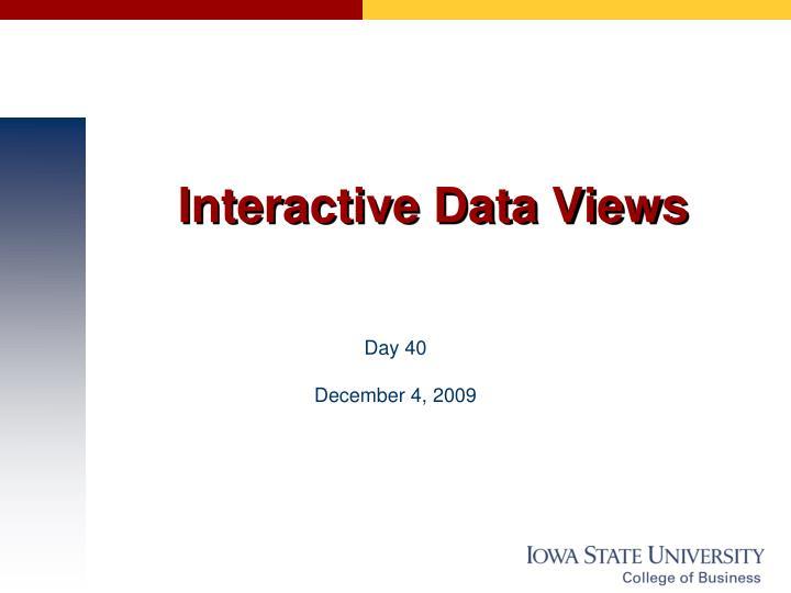 interactive data views n.