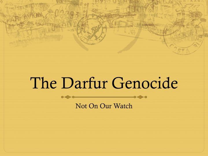 the darfur genocide n.