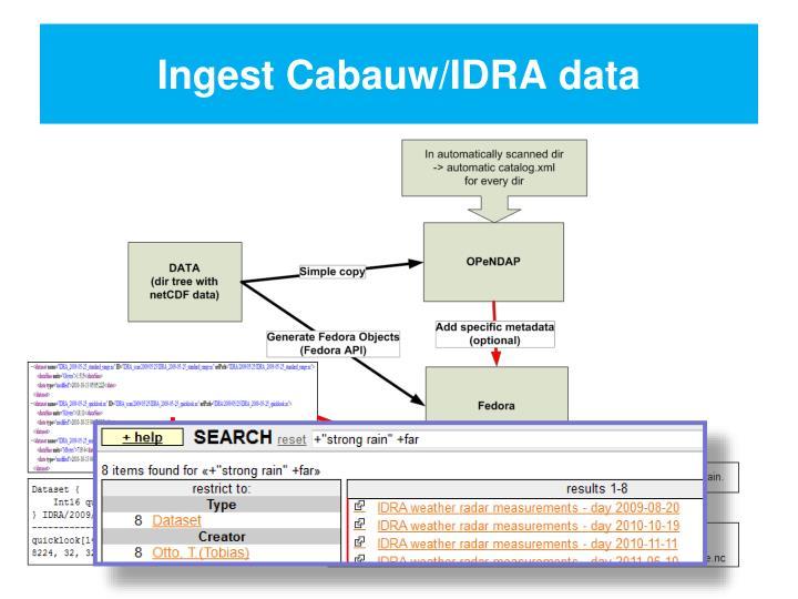 Ingest Cabauw/IDRA data