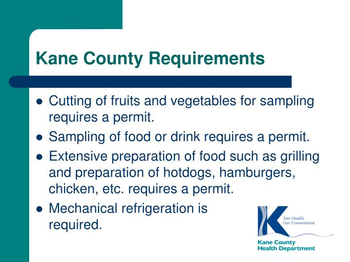 Kane County Requirements