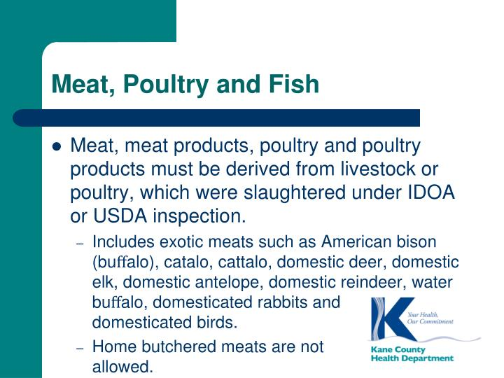 Meat, Poultry and Fish
