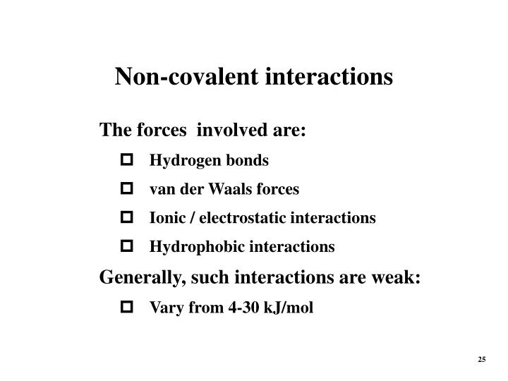 Non-covalent interactions