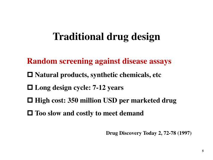 Traditional drug design