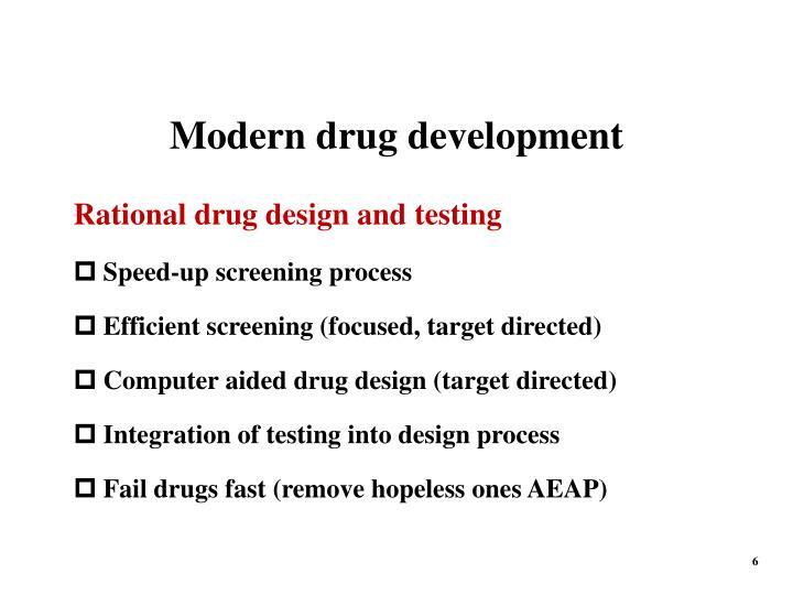 Modern drug development