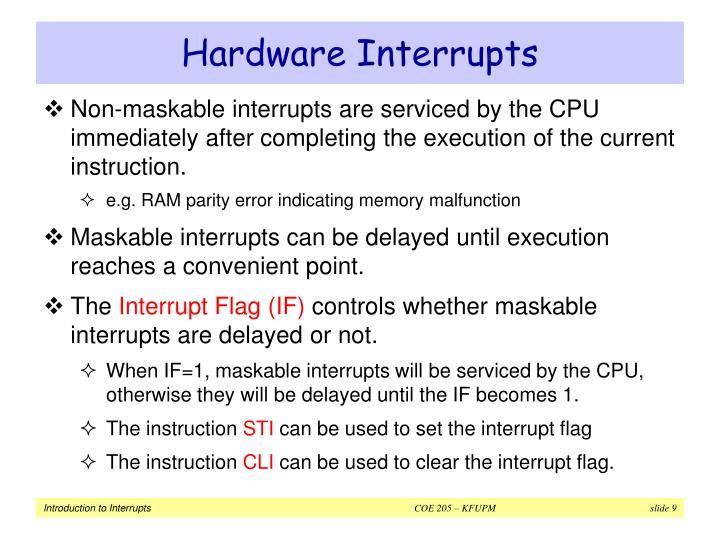 Hardware Interrupts