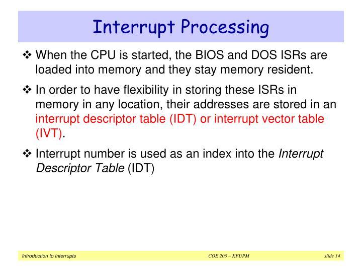 Interrupt Processing