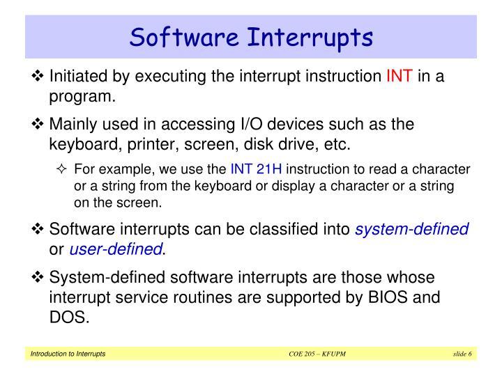 Software Interrupts