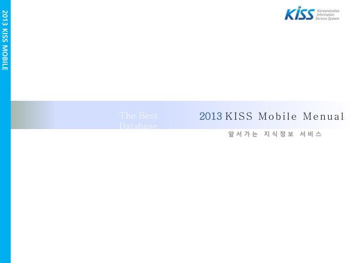 2013 KISS MOBILE