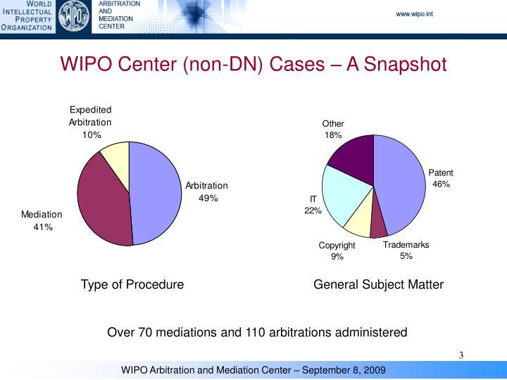 Wipo center non dn cases a snapshot