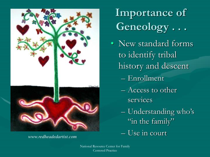 Importance of Geneology . . .