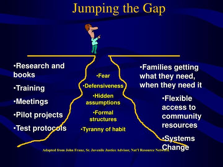 Jumping the Gap