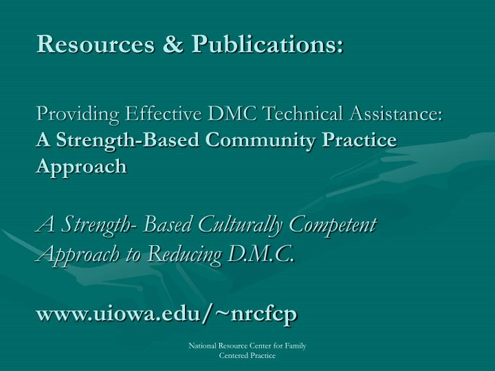 Resource Materials to Consider …