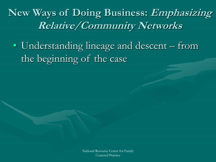 New Ways of Doing Business: