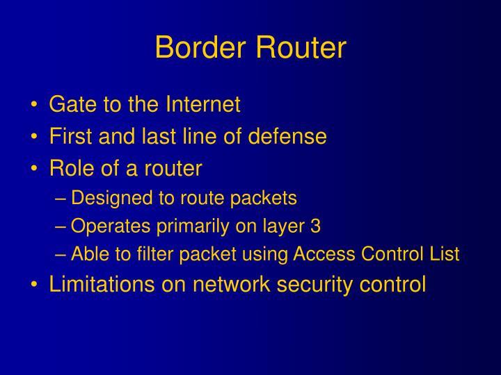 Border router