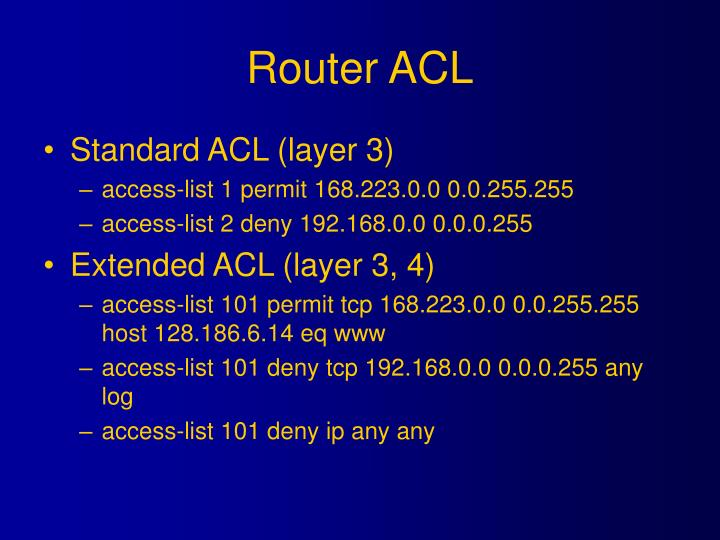 Router ACL