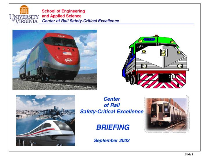 center of rail safety critical excellence briefing september 2002 n.