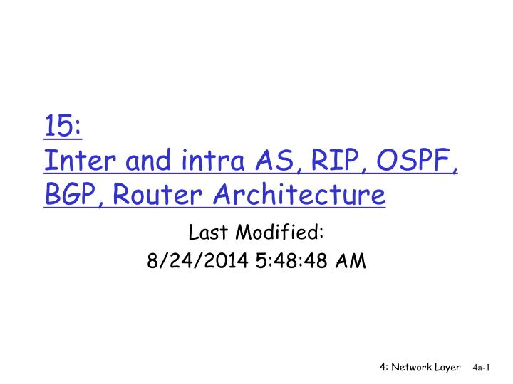 15 inter and intra as rip ospf bgp router architecture n.
