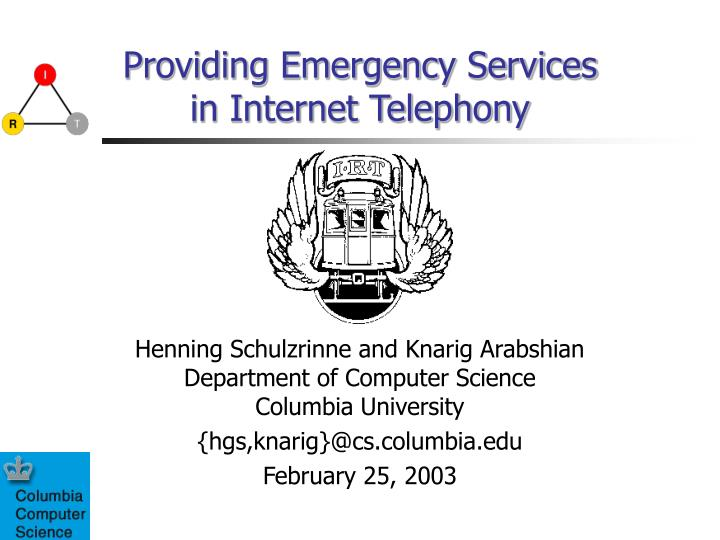providing emergency services in internet telephony n.