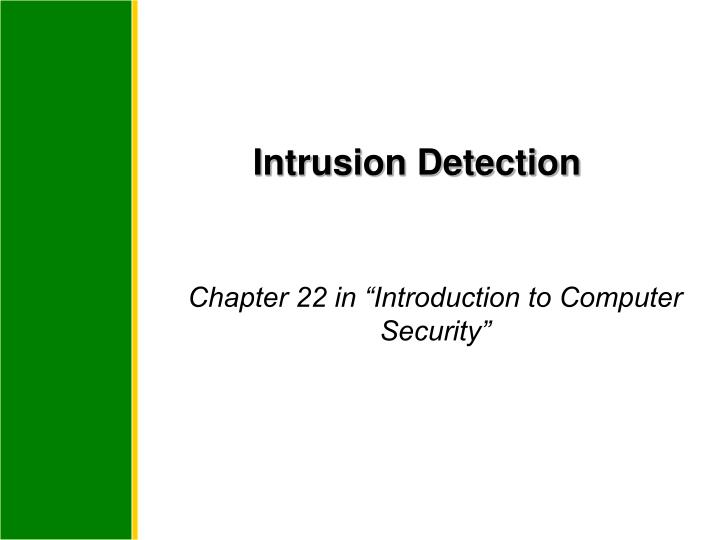intrusion detection n.