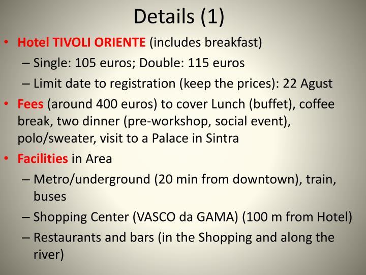 Details (1)