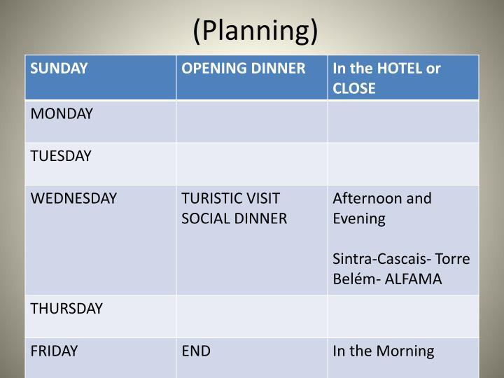 (Planning)